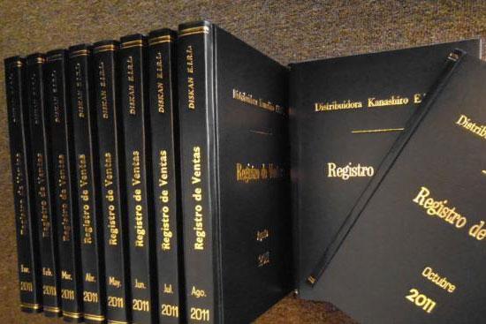 Litorugir Empastada de libros contables